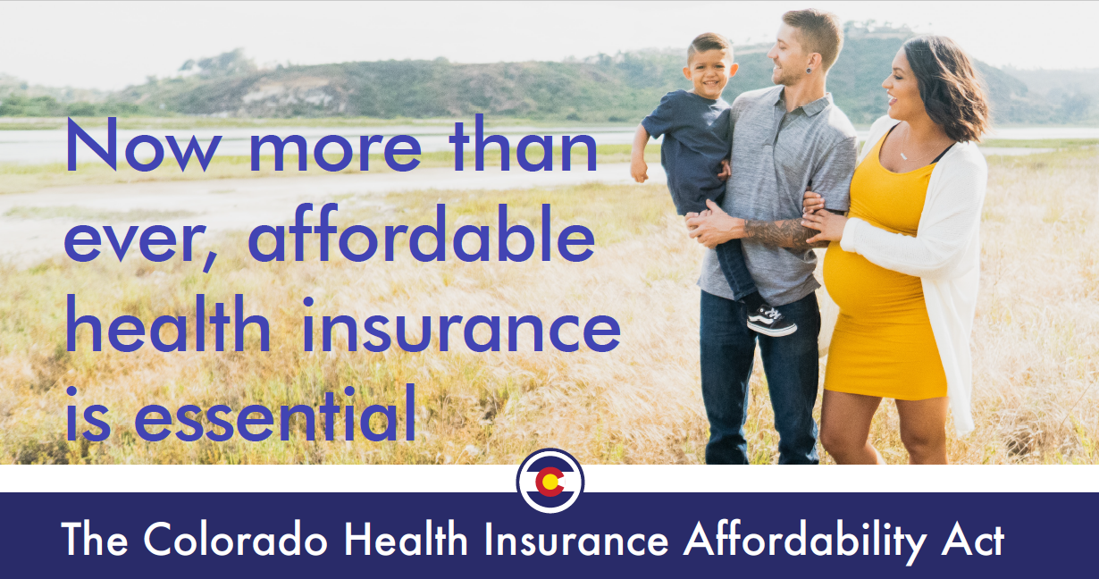 image of father and son with message about health insurance being essential