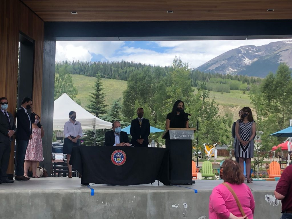 image of bill signing ceremony in Summit County