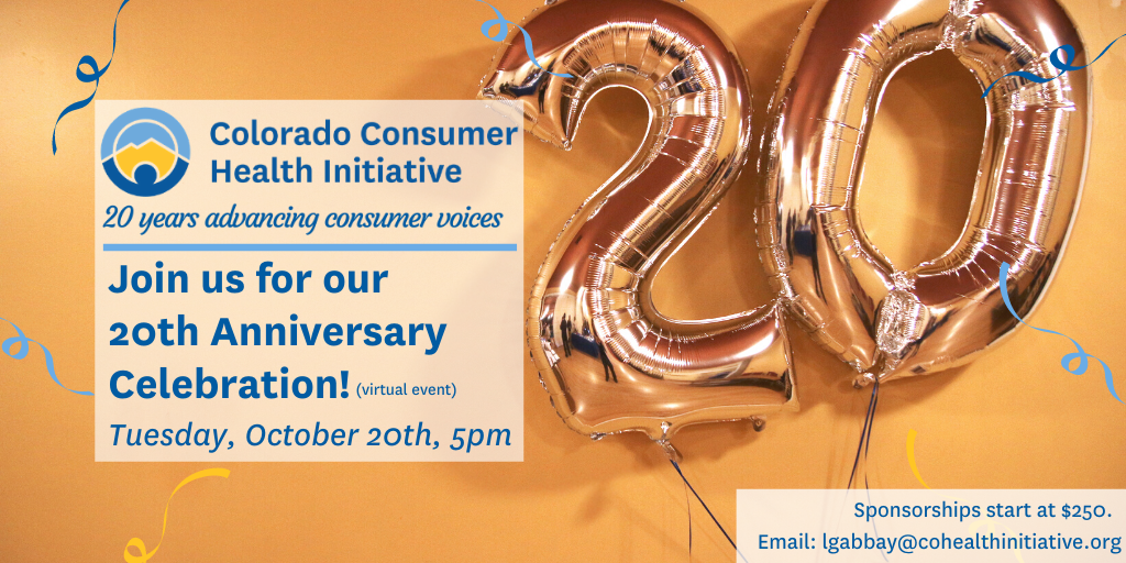 Join us Oct. 20th at 5pm to celebrate CCHI's 20th Anniversary