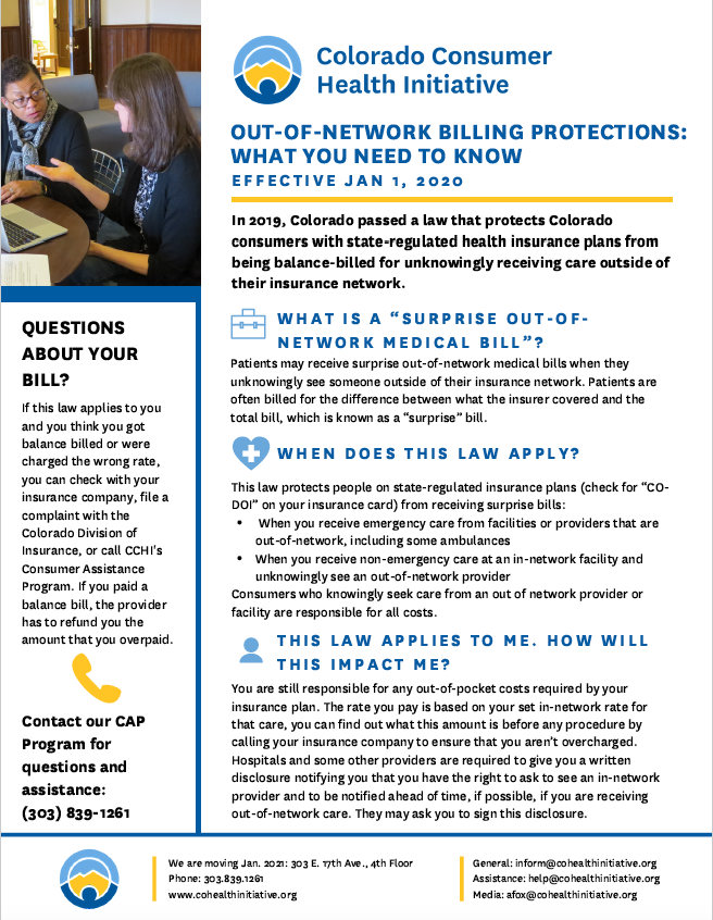 Out-of-network billing protections