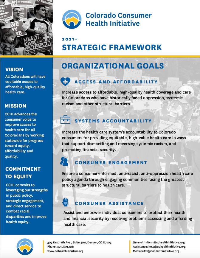 Image of CCHI's Strategic Framework (click for linked pdf)