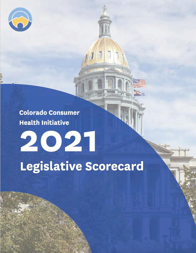 front page of CCHI 2021 Legislative Scorecard